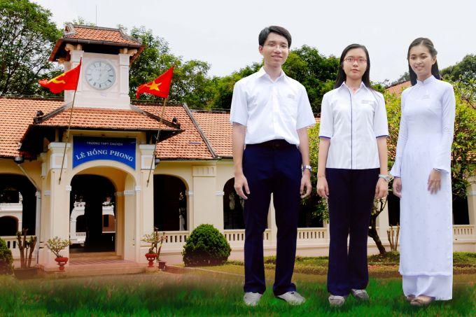 Kết quả hình ảnh cho Đồng Phục Trường THPT Lê Hồng Phong